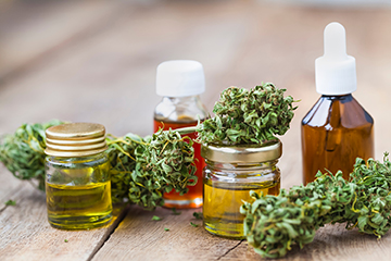 Photo of cannabis products.